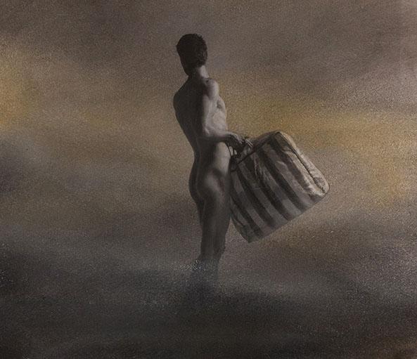 Man in de mist 01 A 30x40