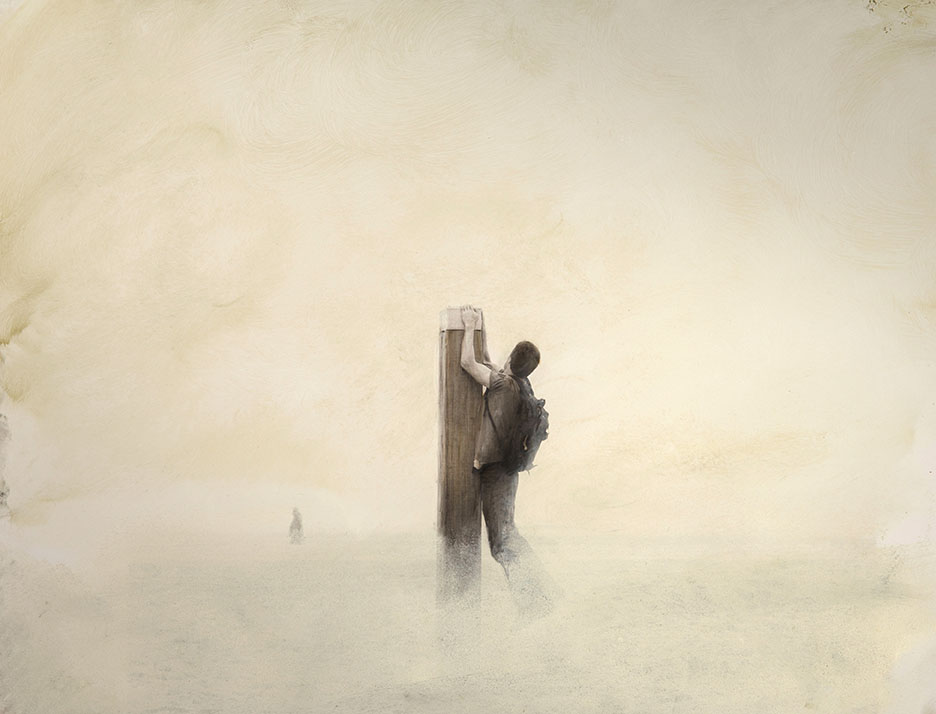 Paal in de mist 01 A 30x40